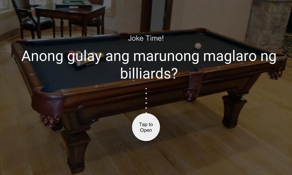 nong gulay ang marunong maglaro ng billiards?