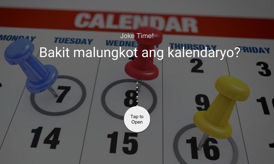 Bakit malungkot ang kalendaryo?