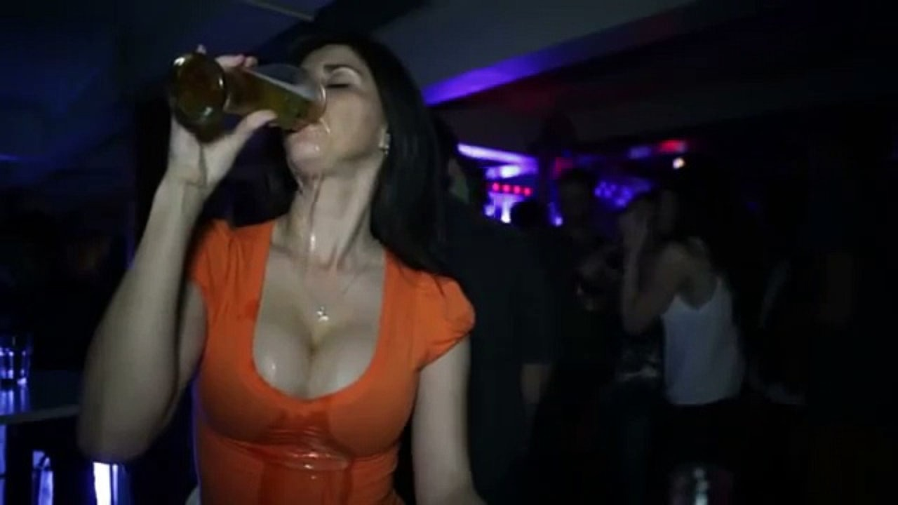 When you try to impress her by drinking…