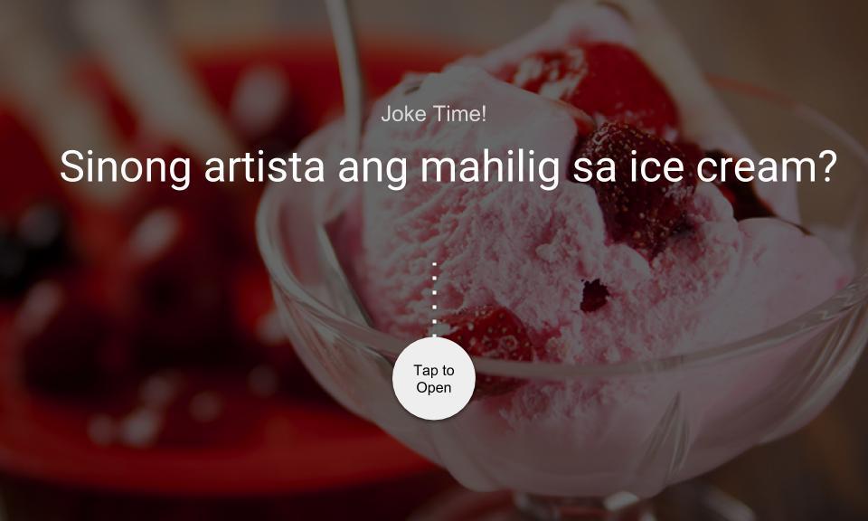 Sinong artista ang mahilig sa ice cream?