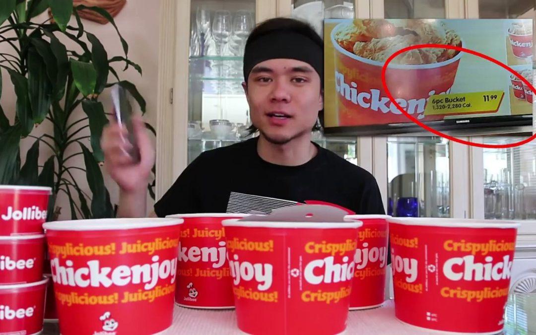 Jollibee Chicken Joy Five Bucket Challenge