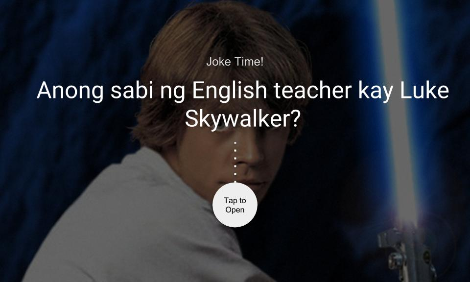 Anong sabi ng English teacher kay Luke Skywalker?
