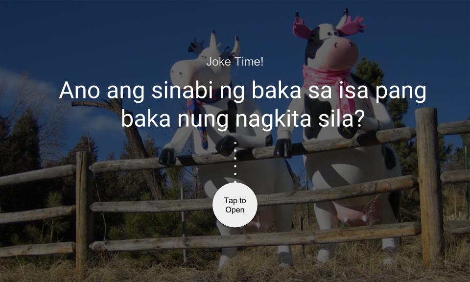 Ano ang sinabi ng baka sa isa pang baka nung nagkita sila?