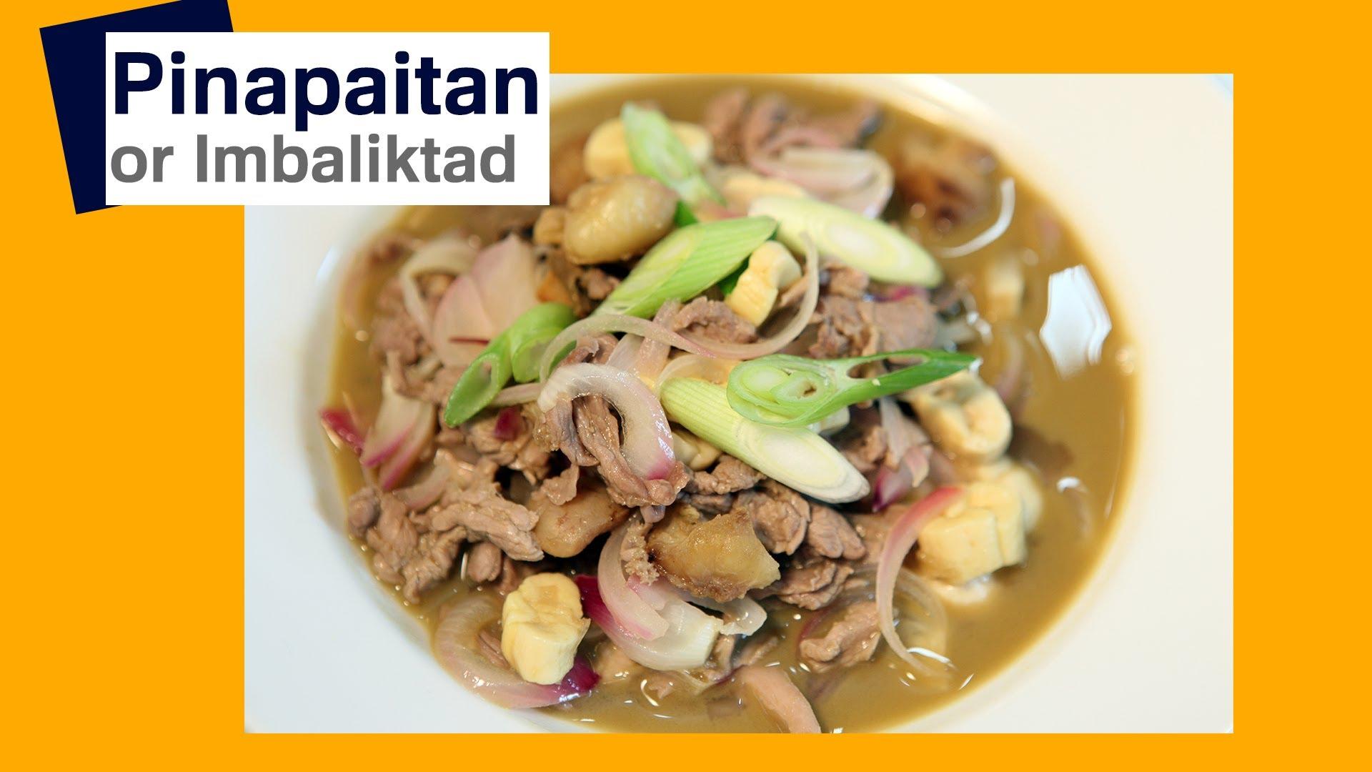Quick Imbaliktad (Pinapaitan Ilokano) Recipe