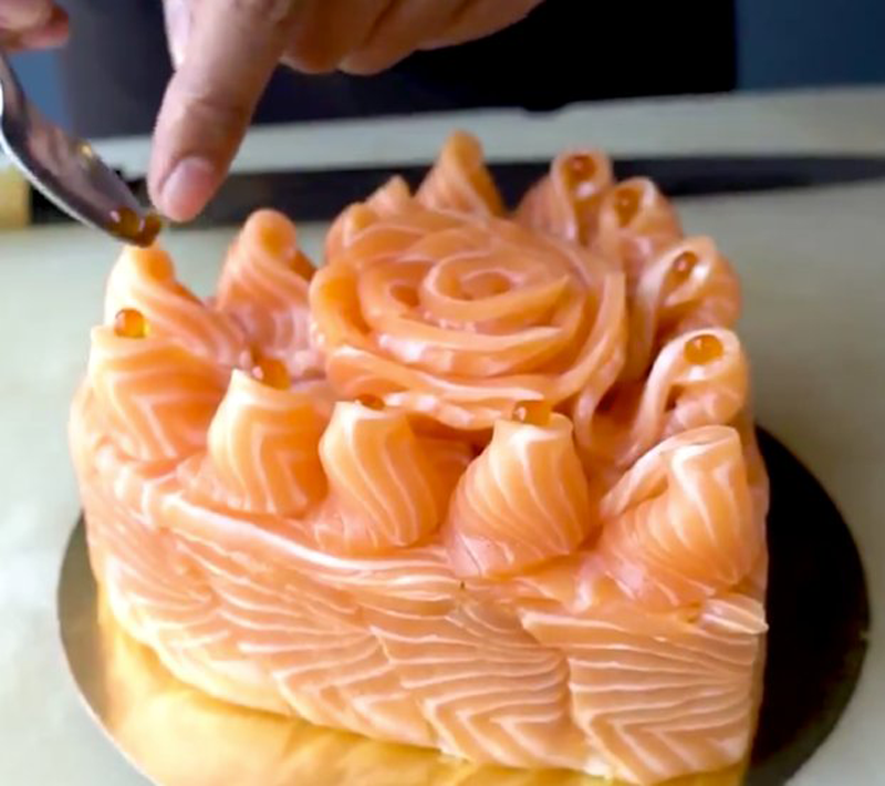 Perfect Cake for Salmon Lovers
