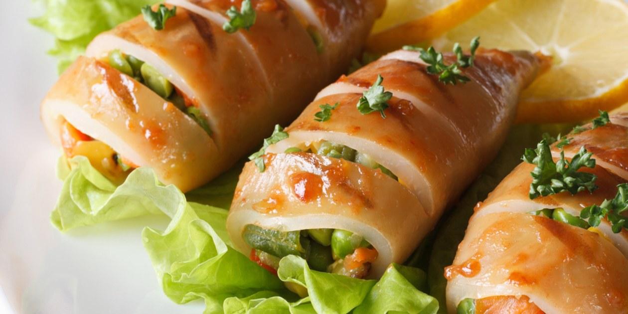 Stuffed Squid Tubes Recipe