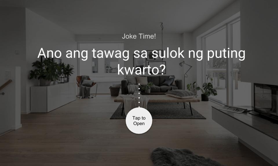 Ano ang tawag sa sulok ng puting kwarto?