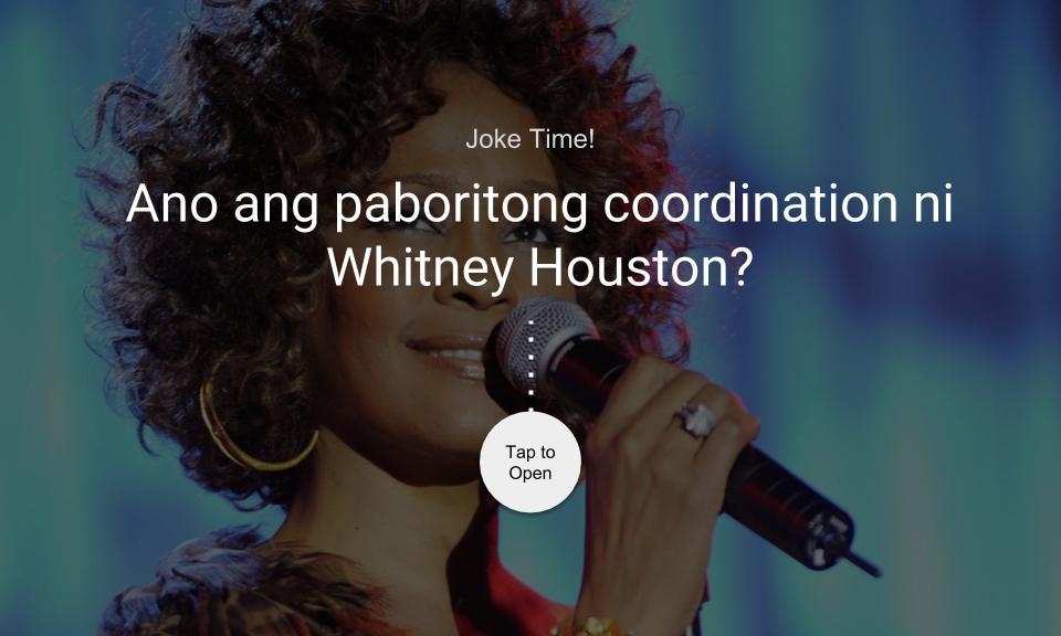 Ano ang paboritong coordination ni Whitney Houston?