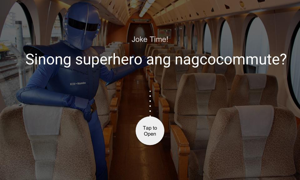 Sinong superhero ang nagcocommute?