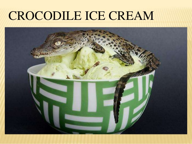 Did somebody say Crocodile Ice Cream?