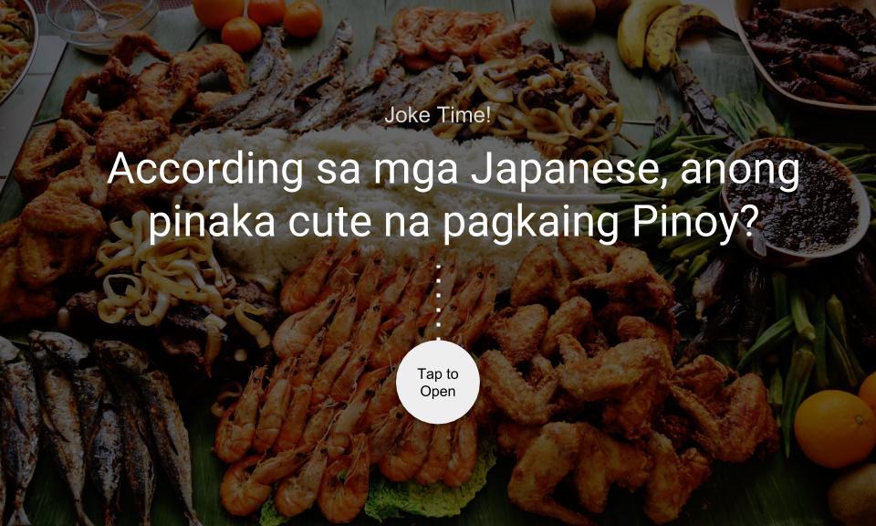 According sa mga Japanese, anong pinaka cute na pagkaing Pinoy?