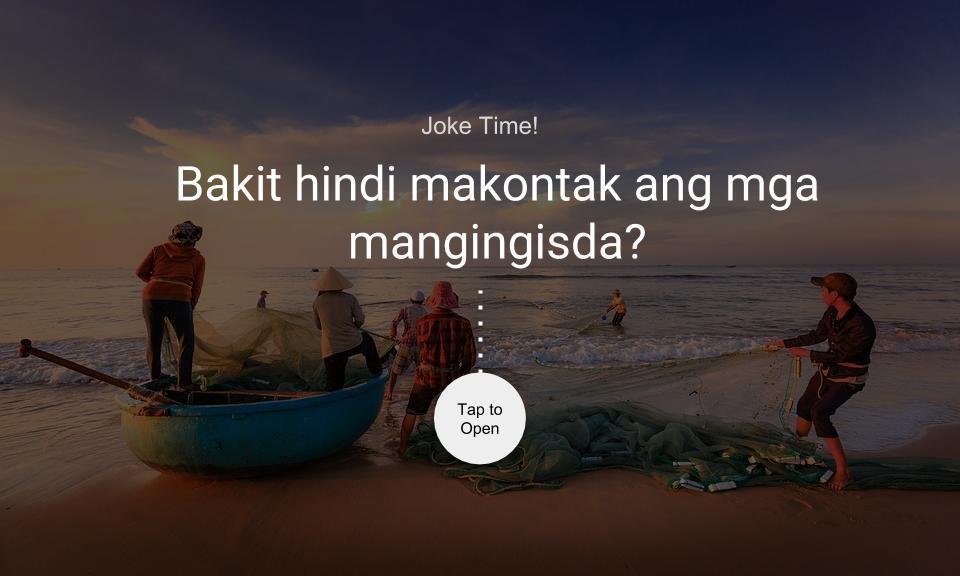 Bakit hindi makontak ang mga mangingisda?