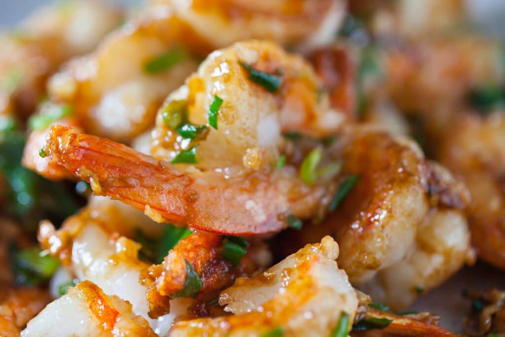 Quick Stir Fry Garlic Chili Shrimps Recipe