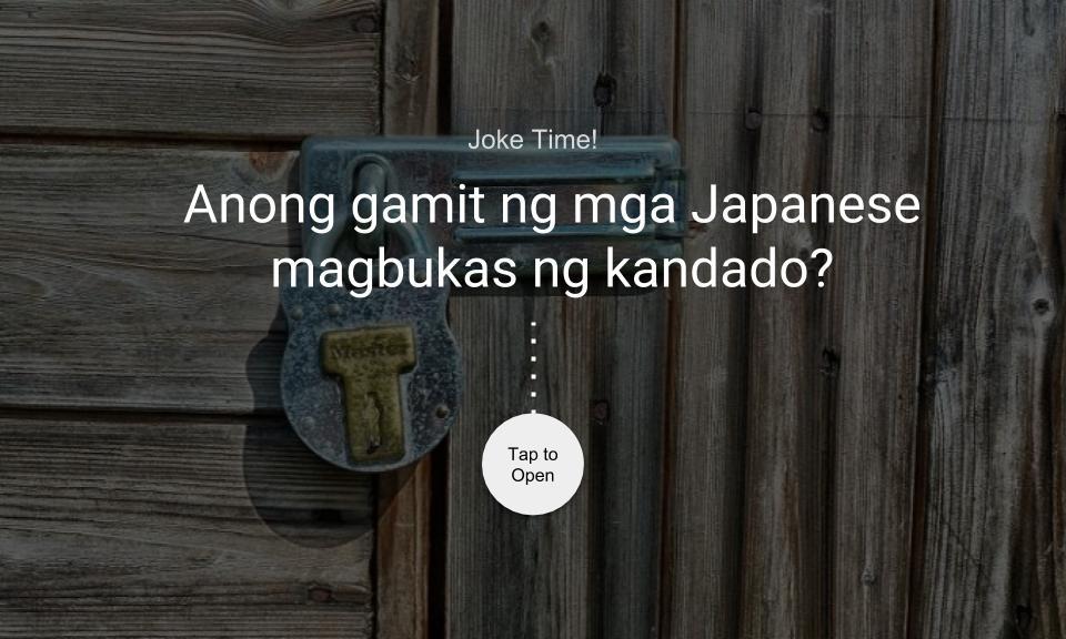 Anong gamit ng mga Japanese magbukas ng kandado?