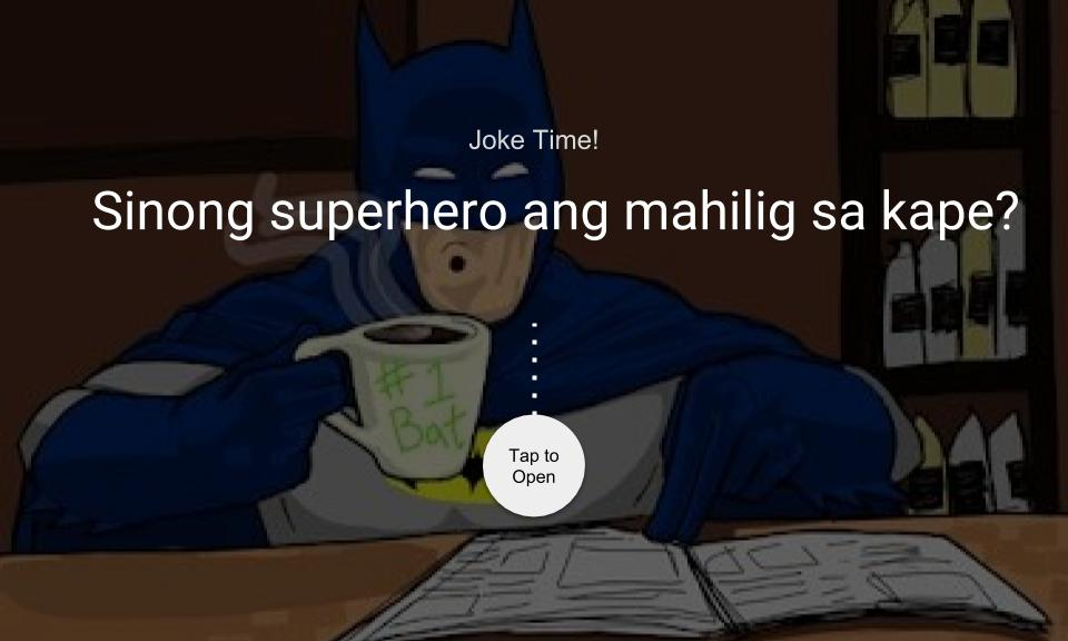 Sinong superhero ang mahilig sa kape?
