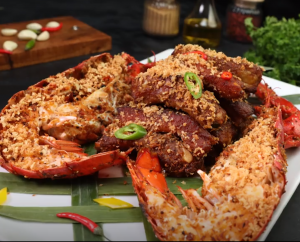 Stir Fried Lobster and Ribs