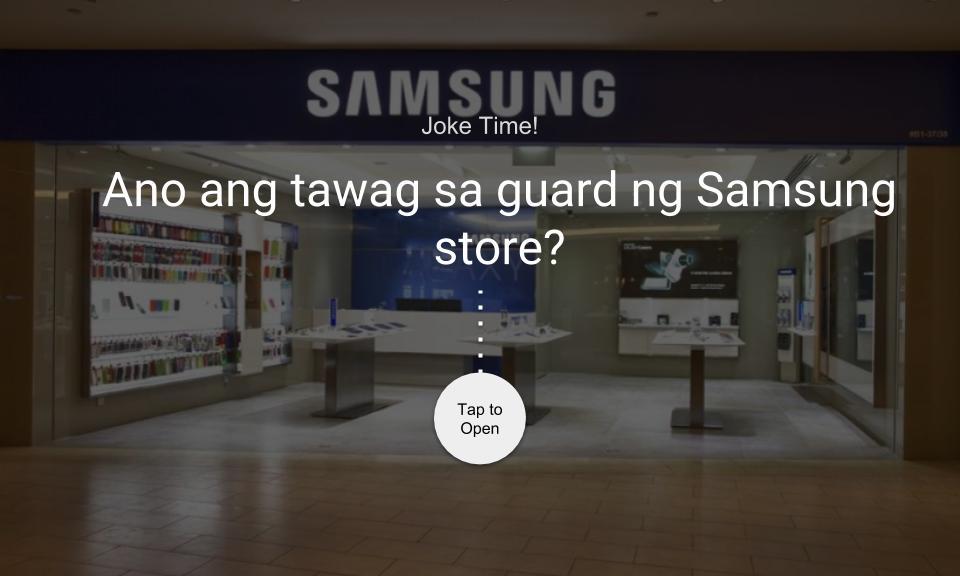 Ano ang tawag sa guard ng Samsung store?