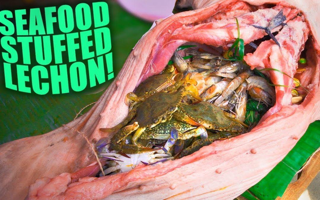Seafood Stuffed Lechon… MIND BLOWN!