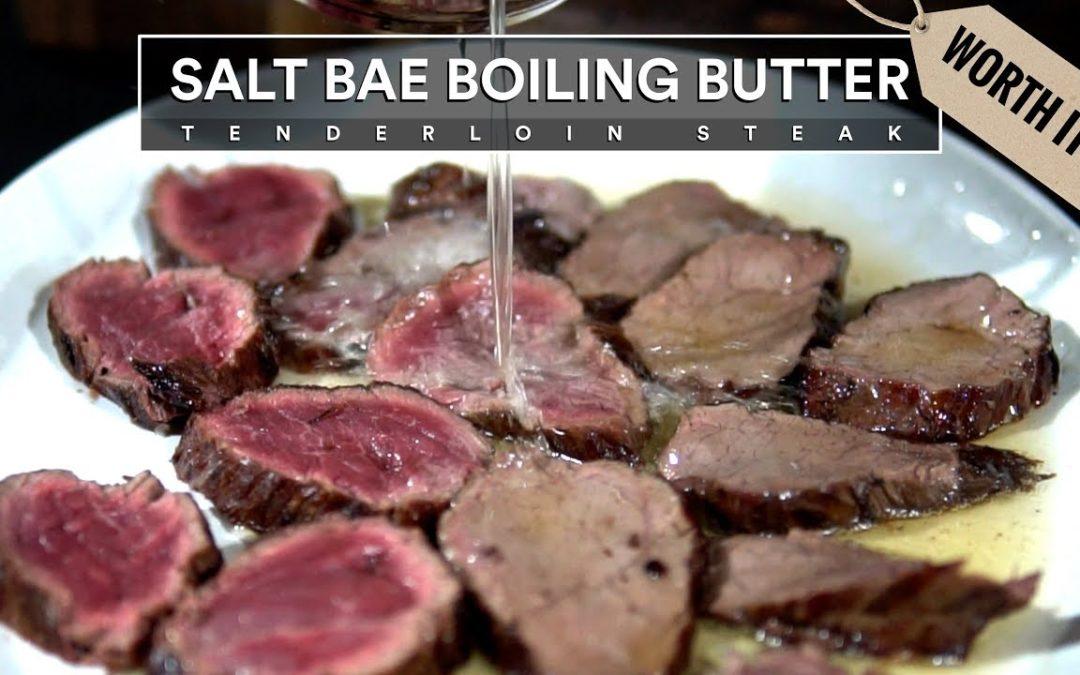 SALT BAE's Boiling Butter Steak
